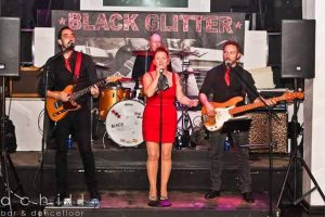 Black Glitter Band at Saxo Gardens, Moraira @ Saxo Disco Garden Chill Out | Moraira | Comunidad Valenciana | Spain