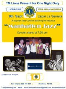 Lions Autumn Concert - Manhatton Jazz @ La Senieta   Moraira   Comunidad Valenciana   Spain