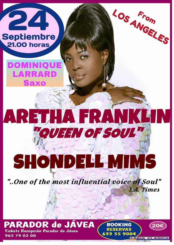 Aretha Franklin Tribute Show At The Parador Javea Connect