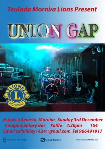 Lions Final Concert of 2018 - Union Gap @ La Senieta | Moraira | Comunidad Valenciana | Spain