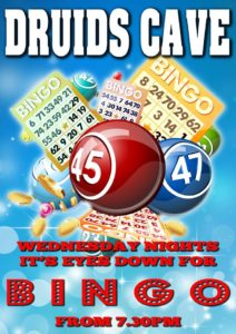 Bingo at Druid's Cave, Moraira Every Wednesday @ Druids Cave | Moraira | Comunidad Valenciana | Spain