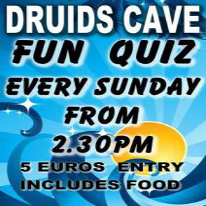 Fun Quiz at Druid's Cave, Moraira Every Sunday. @ Druids Cave | Moraira | Comunidad Valenciana | Spain