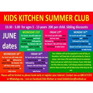 Kids Kitchen Club Dates for Easter @ Kid's Kitchen | Teulada | Comunidad Valenciana | Spain