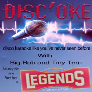 The Legends! Terri and Rob Present... Disc-Oke @ Legends Sports Bar | Xàbia | Comunidad Valenciana | Spain