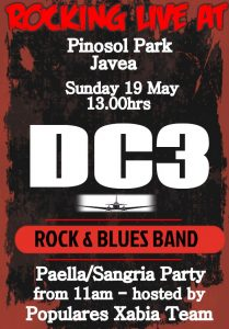 DC3 Band, Free Paella and Sangria at Pinosol Park with Popular Xabia Team @ Pinosol Park | Xàbia | Comunidad Valenciana | Spain