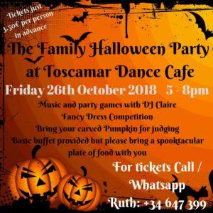 Family Halloween Party at Toscamar @ Toscamar Dance Cafe | Jávea | Comunidad Valenciana | Spain