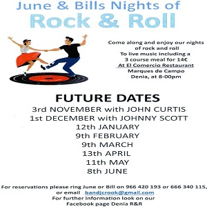 June & Bills Famous Rock & Roll Nights