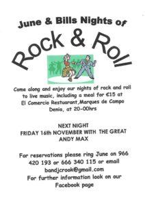 June & Bills Famous Rock & Roll Night