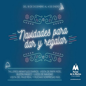 Santa, Workshops and Special Events at Ondara Mall from 18th December to 4th January @ La Marina Shopping Mall Ondara   Ondara   Comunidad Valenciana   Spain