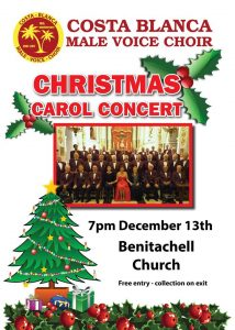 Costa Blanca Male Voice Choir Carol Concert @ Benitachell Chruch