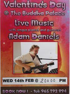 Valentine Night with Adam Daniels at Buddha Palace @ Buddha Palace | Xàbia | Spain