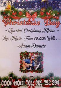 Christmas Day with Adam Daniels at Buddha Palace @ Buddha Palace   Xàbia   Spain