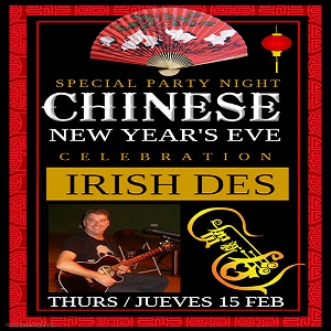 Ring in The Chinese New Year with Irish Des at The Wok Buffet @ Wok Buffet | Bahía de Jávea | Comunidad Valenciana | Spain