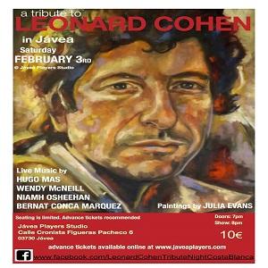 Tribute to Leonard Cohen @ Javea Players Studio Theatre | Xàbia | Spain