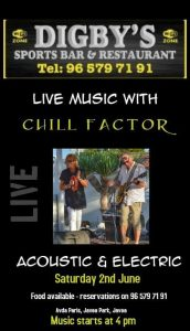Chill Factor at Digby's @ Digby's Sports Bar | Platja de l'Arenal | Comunidad Valenciana | Spain
