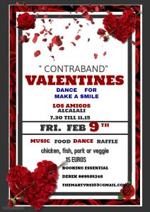 Contraband Valentines Dance at Los Amigos for Make A Smile @ Los Amigos Bar Rte. | Alcalalí | Comunidad Valenciana | Spain