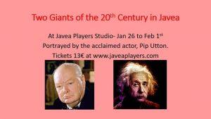 Churchill and Einstein @ Javea Players Studio Theatre | Xàbia | Spain