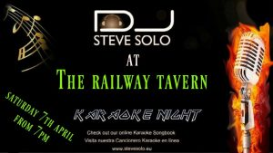 Karaoke Night with Steve Solo at the Railway Tavern @ Railway Tavern | Dénia | Comunidad Valenciana | Spain