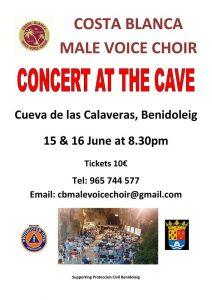 Costa Blanca Male Voice Choir at the Caves Benidoleig @ Cueva de las Cavaleras | Benidoleig | Comunidad Valenciana | Spain