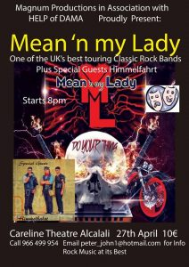Mean 'n My Lady Rock Concert @ Careline Theatre | Alcalalí | Comunidad Valenciana | Spain