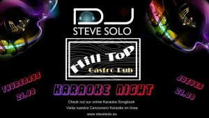 Steve Solo's Karaoke Show at The Hill Top Gastro Bar @ Hilltop Gastro | Teulada | Comunidad Valenciana | Spain