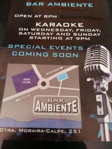 Karaoke at Bar Ambiente @ Bar Ambiente | Benissa | Spain