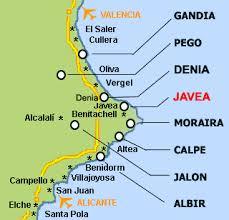 Javea Spain Map.Map Javea Connect