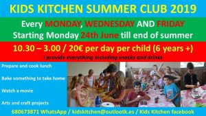 Kids Kitchen Summer Club @ Kid's Kitchen | Teulada | Comunidad Valenciana | Spain