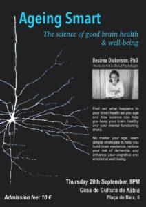 AGEING SMART The Science of Good Brain Health & Well-being @ Casa de Cultura, Javea   Xàbia   Comunidad Valenciana   Spain