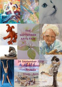 THE ARTS SOCIETY MARINA ALTA PRESENTS ITS SEPTEMBER ARTS FAIR @ Salon Canor | Teulada | Comunidad Valenciana | Spain