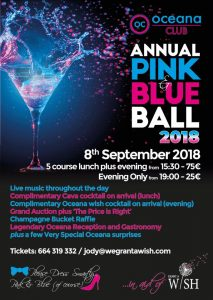 Grant-a-Wish Annual Pink and Blue Ball @ Oceana Club | Benissa | Comunidad Valenciana | Spain