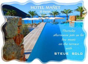 Steve Solo Performing at Hotel Manet, El Portet. @ HOTEL MAÑET | Teulada | Comunidad Valenciana | Spain