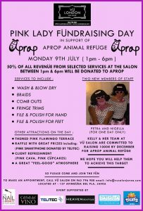 Pink Lady Fundraiser for Aprop @ Vu Hair Salon | Xàbia | Comunidad Valenciana | Spain