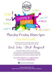 Summer Camp at Innate, Solpark @ Solpark | Teulada | Comunidad Valenciana | Spain