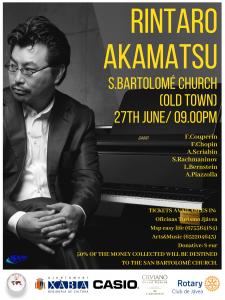 Charity Concert by International Pianist Rintaro Akamatsu @ S. Bartalome Chirch | Xàbia | Comunidad Valenciana | Spain