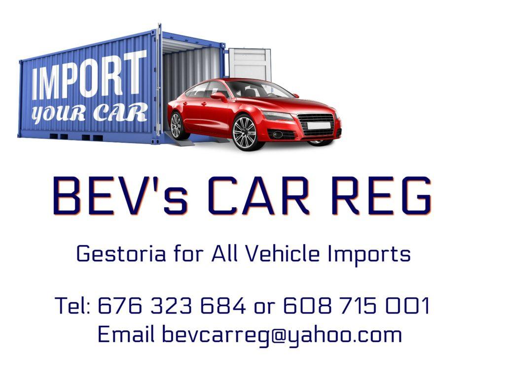 Bev's Car Reg