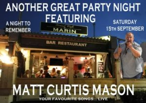 Grand Café Marin Bar/rte. – Matt Mason. @ Grand Café Marin Bar/rte.  | Dénia | Spain