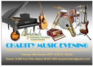 Charity Music Evening in Aid of Alzheimers Assoc. @ Seemontgo Rte. | Jávea | Comunidad Valenciana | Spain