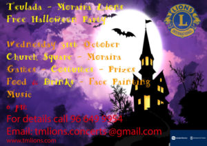 Annual Halloween Party with The Lions @ Moraira | Comunidad Valenciana | Spain