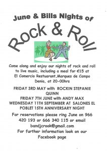 June & Bills Famous Rock & Roll Night @ At El Comercio Restaurant | Dénia | Comunidad Valenciana | Spain