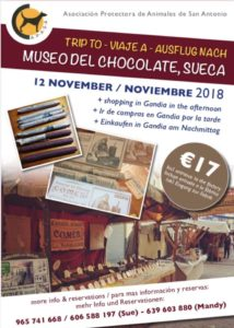 Trip to Chocolate Museum & Shopping in Gandia with APASA @ Pick up at Mas y Mas Javea | Comunidad Valenciana | Spain