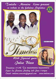 "The Teulada – Moraira Lions Present ""Timeless"" plus Special Guest Julia Bless. @ TEULADA: Auditorium   Teulada   Comunidad Valenciana   Spain"