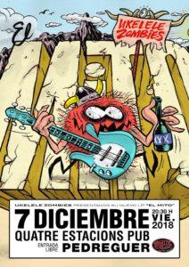 Ukelele Zombies at  Pub Quatre Estacions @  Pub Quatre Estacions   Pedreguer   Comunidad Valenciana   Spain