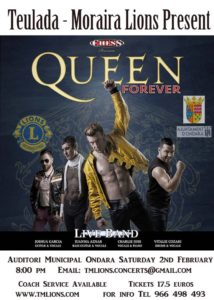 Queen Forever Featuring Chess @ Auditorium Ondara | Ondara | Comunidad Valenciana | Spain