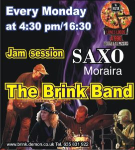 Brink Band Jam Session @ Saxo Disco Garden Chill Out | Moraira | Comunidad Valenciana | Spain