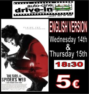 Drive In Movie In English..The Girl in the Spider's Web @ Dénia | Comunidad Valenciana | Spain