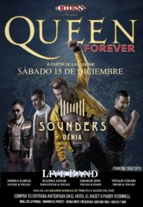 """Queen Forever! Tribute Band """"Chess"""" at Sounders in Denia @ Sounders   Dénia   Spain"""