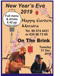 Chinese New Year's Eve with The Brink @ Happy Garden | Teulada | Comunidad Valenciana | Spain