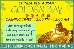 Irish Fred at Golden Bay Chinese Restaurant @ Golden Bay Rte | Moraira | Comunidad Valenciana | Spain