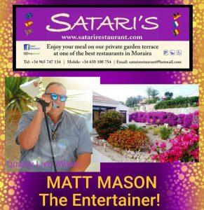 Matt Mason at Satari's Restaurant @ Satari's Restaurant | Teulada | Comunidad Valenciana | Spain